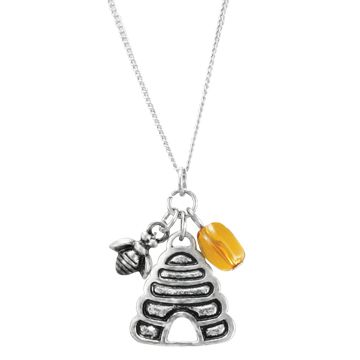 Beehive Necklace. What a great birthday present for a brand new Beehive just entering Young Womens!