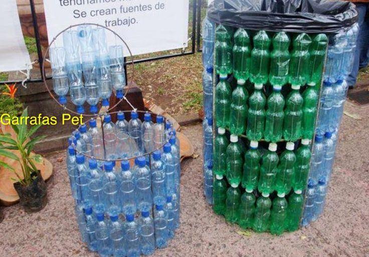 10 lixeiras criativas e recicladas