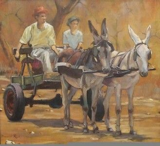 Donkey cart by South African artist David Ras