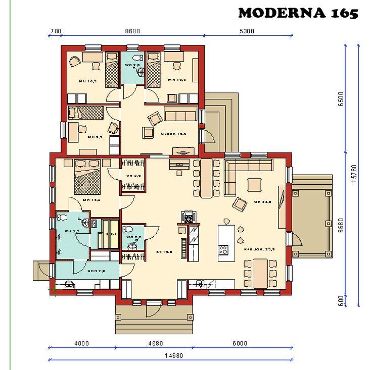 Talomallisto | 1 kerros | Moderna | Moderna 165