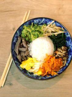 Bibimbap coréen - Recette de cuisine Marmiton : une recette