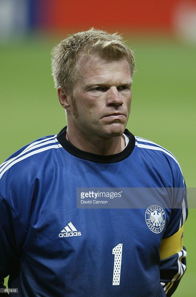 Oliver Kahn of Germany lines up in the first half during the Germany v Saudi Arabia, Group E, World Cup Group Stage match played at the Sapporo Dome, Sapporo, Japan on June 1, 2002. Germany won the match 8 - 0.