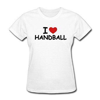Amazon.com: LoveTS Custom Printed Women's I Love Handball T-Shirts White: Clothing