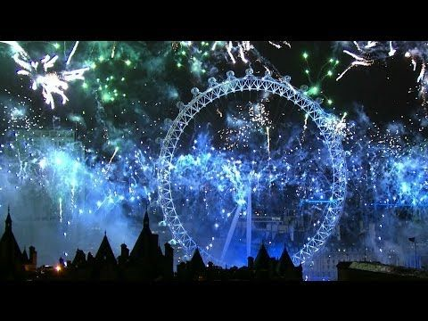 The British version is so much better!!!!!▶ London Fireworks 2014 - New Year's Eve Fireworks - BBC One - YouTube