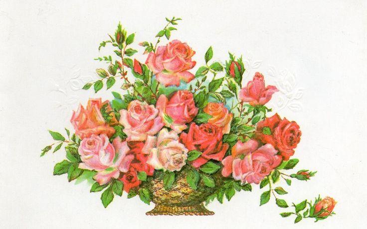 Рисунок цветы для поздравления с днем рождения