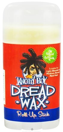 Long-awaited, much requested... Knotty Boy DreadStuff proudly presents the Knotty Boy Dread Wax Roll-Up Stick! So you love your little jar o' Dread Wax but sometimes the inconvenience of sticky finger