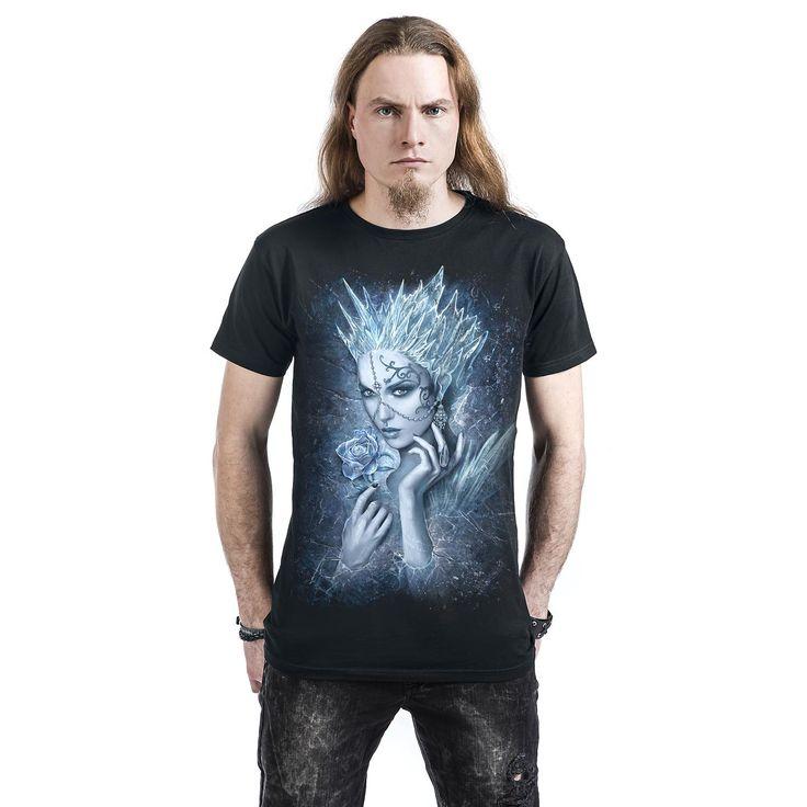 """Classica T-Shirt uomo nera """"Ice Queen"""" del brand #Spiral."""