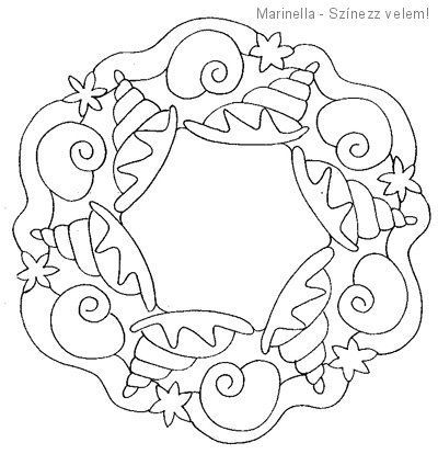 Sea Animal Mandala Coloring 4