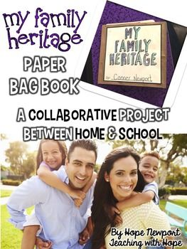 My Heritage Family Project {Paper Bag Book} Such a great way to connect with families from the start!