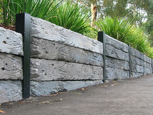 Fantastic Free Pallet Retaining Walls Concepts If You Have A Garden Inside The In 2020 Sleeper Retaining Wall Backyard Retaining Walls Concrete Sleeper Retaining Walls