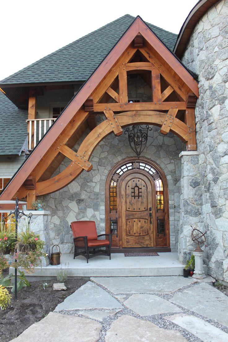 Timber frame entrance Like and Repin. Thx Noelito Flow. http://www.instagram.com/noelitoflow