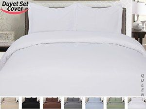 3 Piece Luxury Duvet Cover Set (Queen, White) , Includes Duvet Cover and 2 Matching Pillow Shams, Ultra Soft and Easy Care, Wrinkle & Fade Resistant - By Utopia Care -   - http://homesegment.com/home-kitchen/3-piece-luxury-duvet-cover-set-queen-white-includes-duvet-cover-and-2-matching-pillow-shams-ultra-soft-and-easy-care-wrinkle-fade-resistant-by-utopia-care-com/