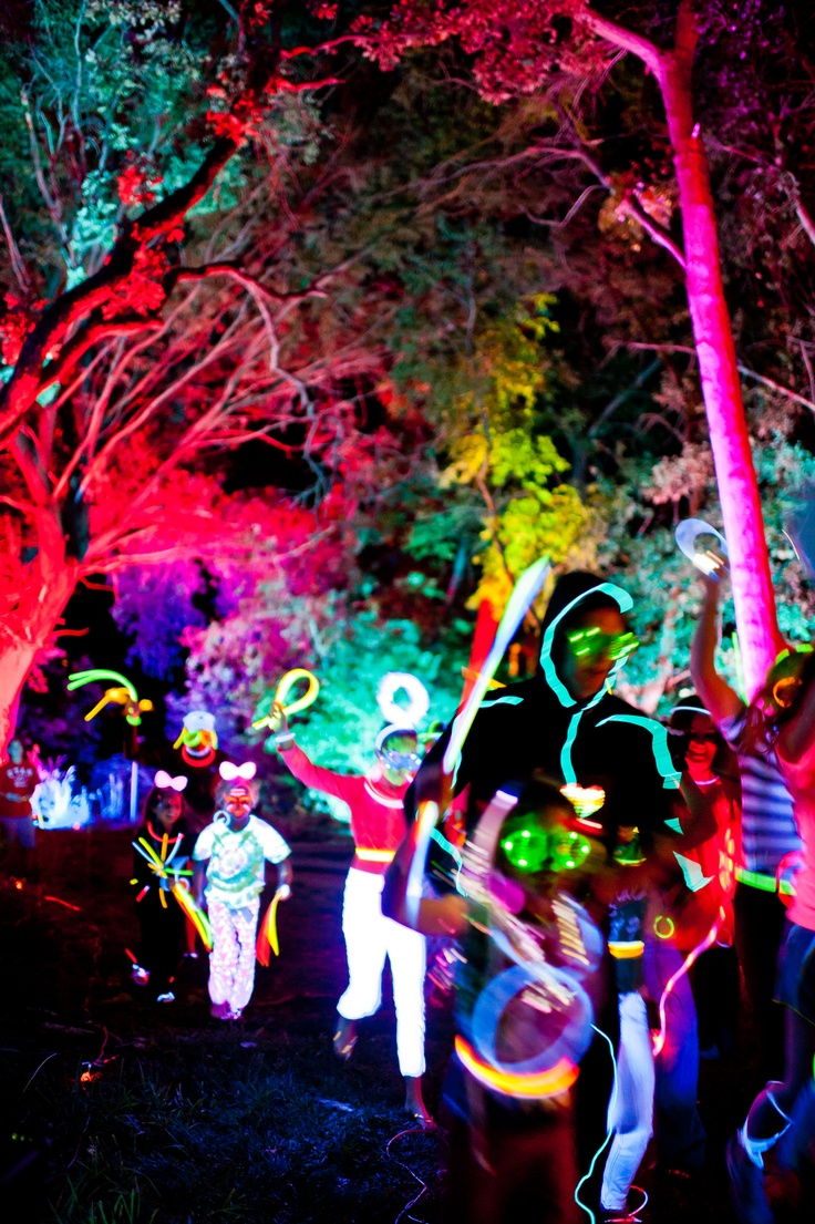 Electric run! I 5K light show :) want to do this!!