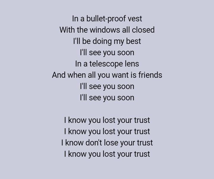 See you soon- Coldplay