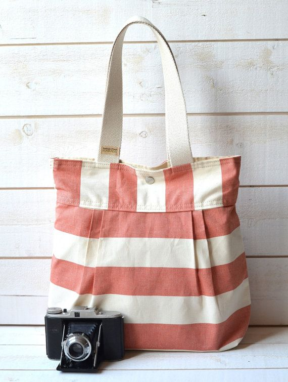 stripey bag  ikabags - etsy