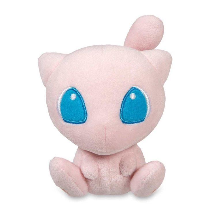 CRE Mega Mew Plush Toys Stuffed Doll With Badges Pink 6""
