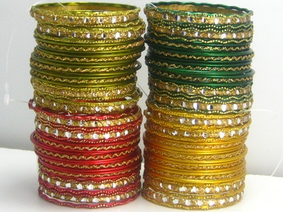 bracelets INDIA style .. great for adding pops of color to the summer beach look!