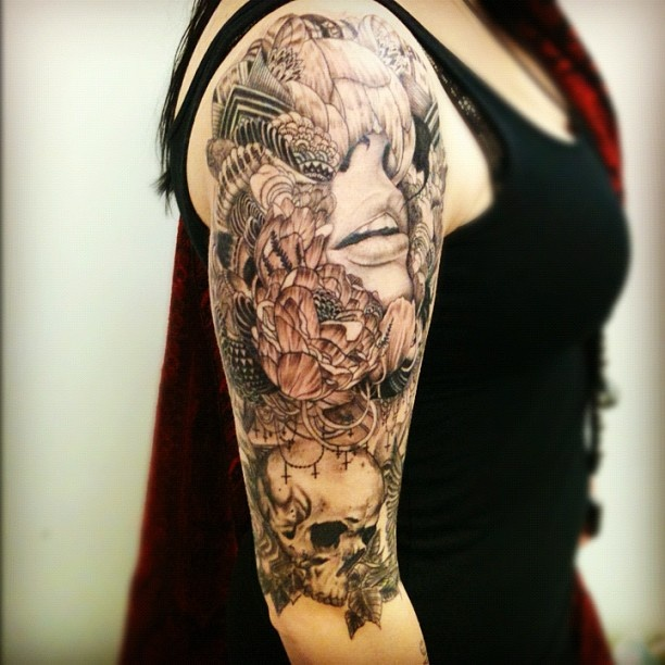 105 best images about upper arm tattoos on pinterest for Upper arm half sleeve tattoos