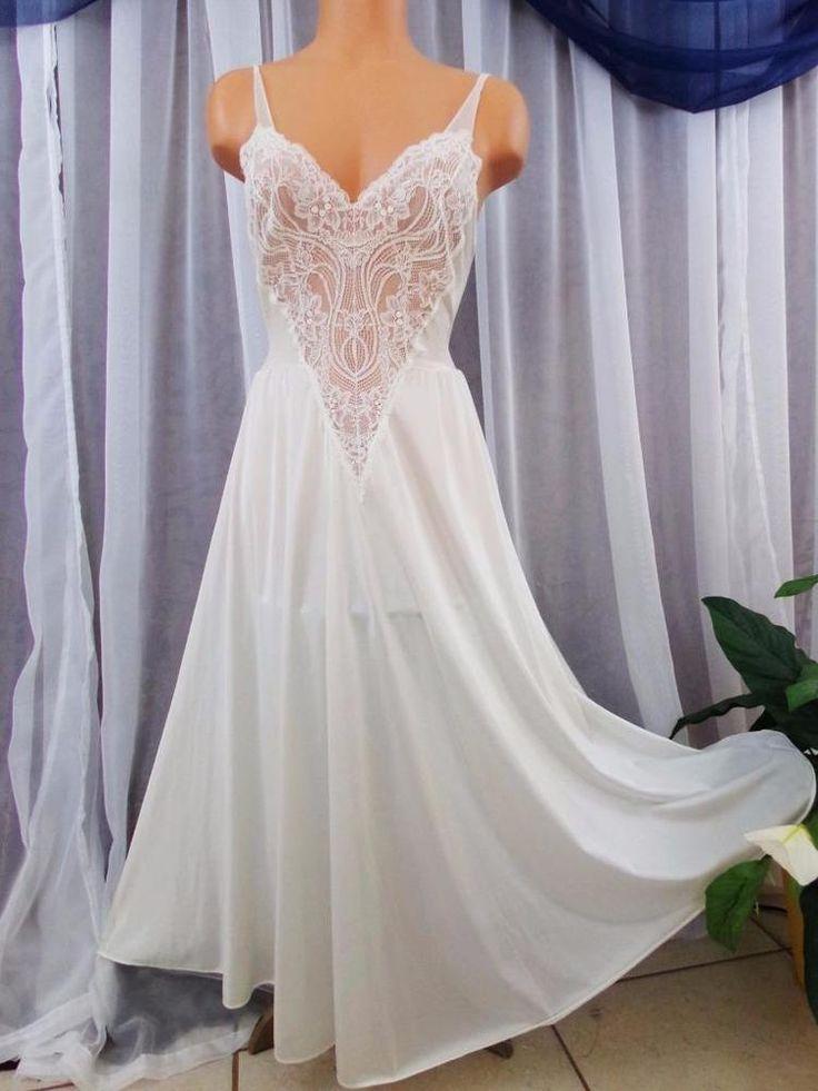 "Vtg.M.White bridal ""Olga"" 128 full sweep vintage nightgowns,nightie lingerie #Olga"