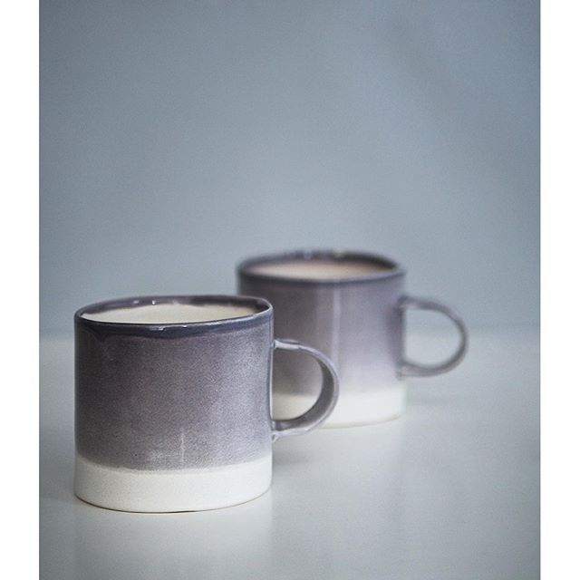 It's a grey Sunday here in Vancouver. Perfect for these grey mugs by Oden artisans Atelier Make. Live in a rainy city too and need these mugs? Available on our store www.odengallery.com. #madeincanada #ceramicmugs #rainydays #vancouver #curatedlife