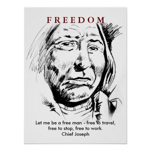 Indian Chief Sketch Motivational Poster Poster