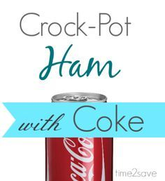 Crock-Pot Cola Ham is the perfect dish for Easter Dinner. So yummy and easy to make, just put in the crock pot and forget it.