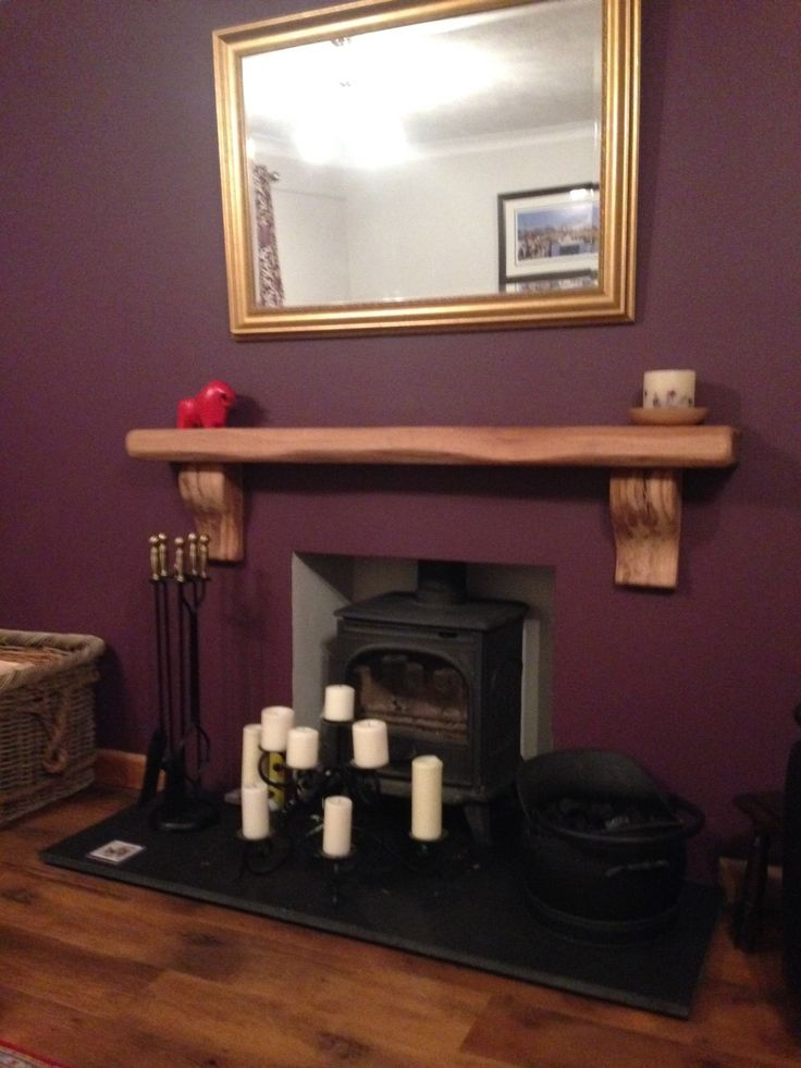 This Rustic Curved Corbel Oak Mantel Shelf Omplets Kevin Jones 39 Fireplace Beautifully Creating