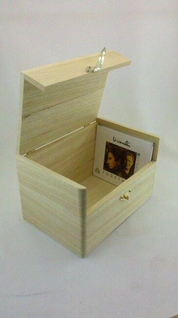 Ahşap CD kutusu - Wooden Box for cd's www.kiymikahsapkutu.com