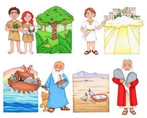 Digital clip art illustrations for the LDS primary song Follow the Prophet While I drew these pictures, I imagined cutting them out to attach to