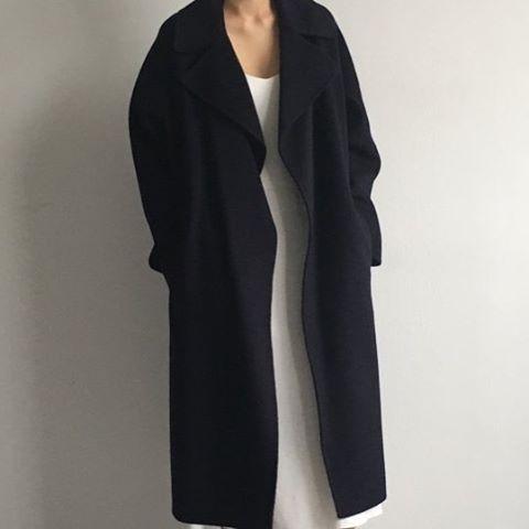 simple black overcoat