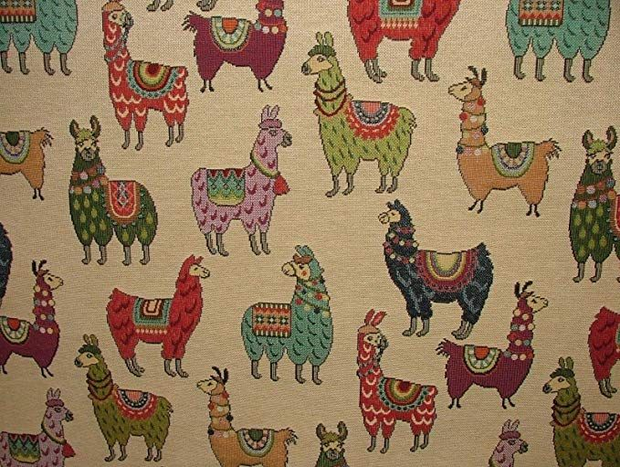 """Dogs /""""Animal Tapestry/"""" Designer Fabric For Upholstery Curtains Cushions Throws"""
