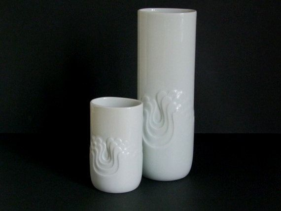 Tapio Wirkkala Thomas Rosenthal W.Germany 2 white by Vintageplaza