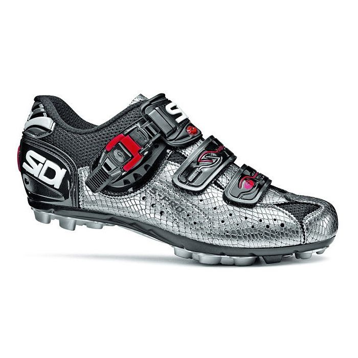 Women's SIDI Dominator 5 Silver Mamba Shoes - SIDI indoor cycling shoes by Spinning.