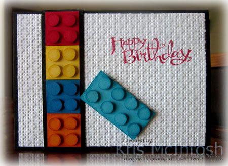 Открытка лего своими руками, днем рождения алине