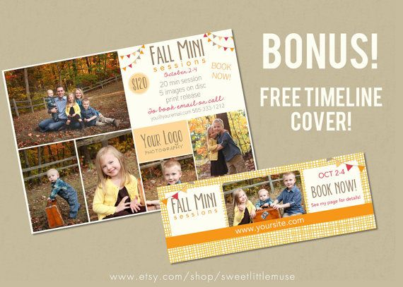 This colorful 5x7 marketing board is perfect for announcing upcoming fall mini sessions!    - 5x7  - 300 dpi  - layered .psd files  -