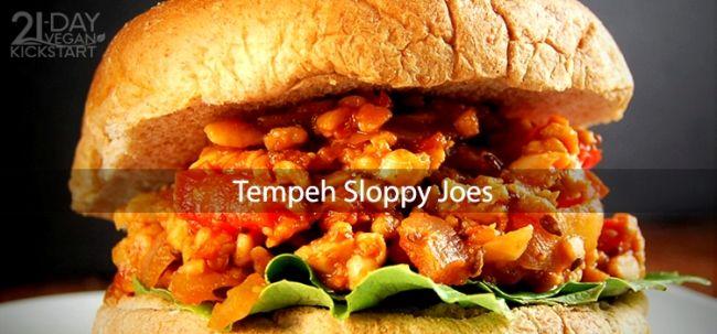 Tempeh Sloppy Joes vegan recipe