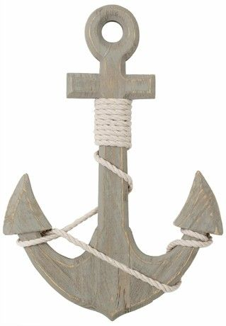 46Cm Nautical Home Accessory Seashore Wooden Ships Anchor Decoration