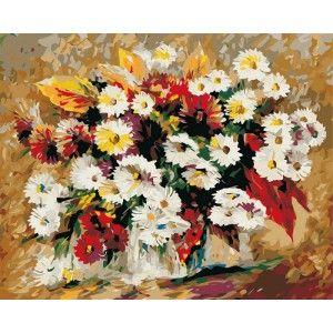 Астры Раскраска (картина) по номерам акриловыми красками ...