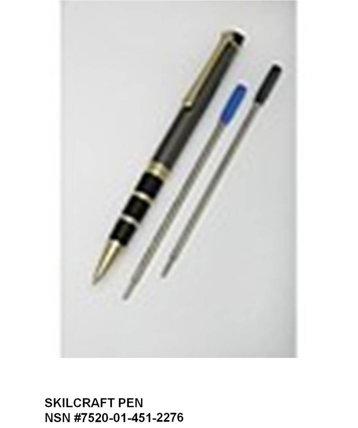 The SKILCRAFT pen was launched in 1968, the result of National Industries for the Blind's effort to assist GSA meet its need to find quality ball point pens. The challenge was to create a retractable ball point pen that can write continuously for more than one mile; can write upside down; will work in temperatures up to 160 degrees and as low as 40 below zero and that anything written by the pen can withstand 2 applications of chemical bleach. Challenge met!