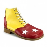 3 Star Red and Yellow Leatherette Clown Shoes:  $64.50