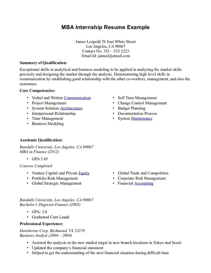 internship resume examples  top 10 resume objective