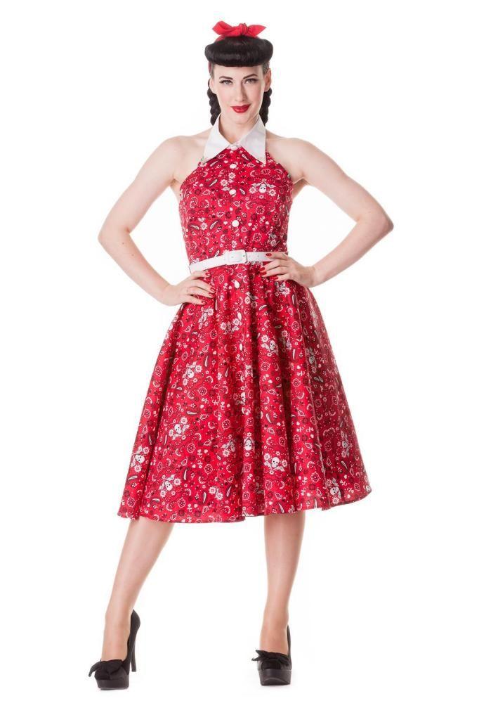 Red Calamity 50's style rockabilly dress