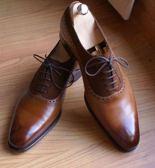 Chocolate color dress shoes