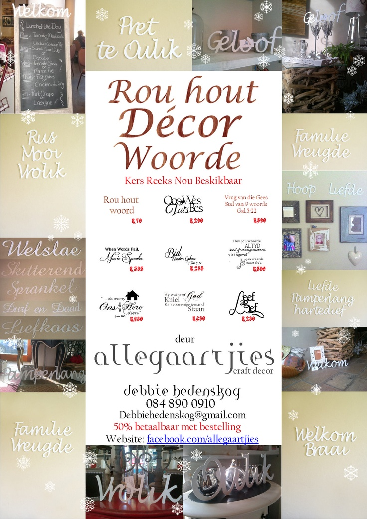 Raw Wood Decor Words and phrases