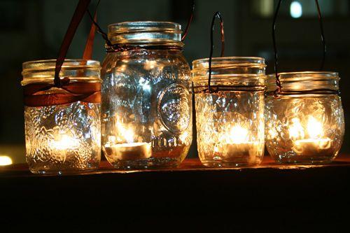 DIY Mason jar wedding lanterns