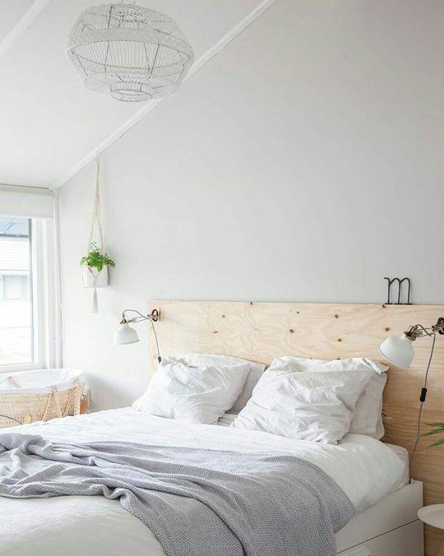 Harmoniskt sovrum enkelt minimalistiskt