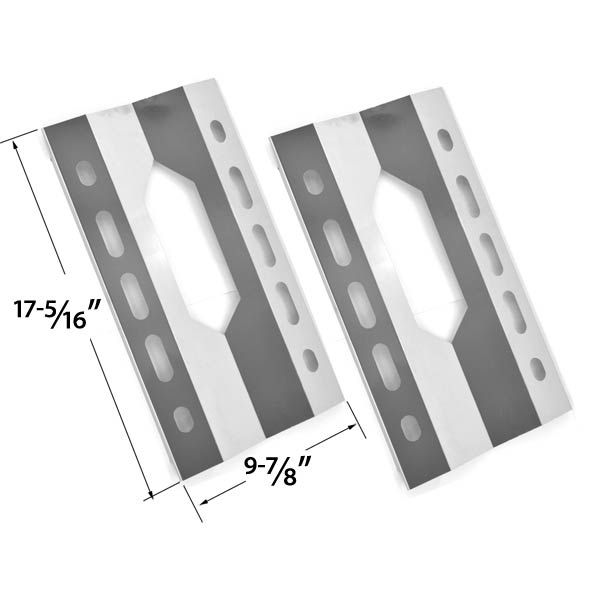 2 PACK REPLACEMENT STAINLESS STEEL HEAT SHEILD FOR VIRCO, GLEN CANYON 720-0026-LP, 720-0152-LP, KIRKLAND 720-0108 AND STERLING FORGE 720-0016 GAS GRILL MODELS Fits Compatible Virco Models : 2001SS-LP , 720-0008-LP , 720-0021-LP , 720-0021-LP Read More @http://www.grillpartszone.com/shopexd.asp?id=33784&sid=29656