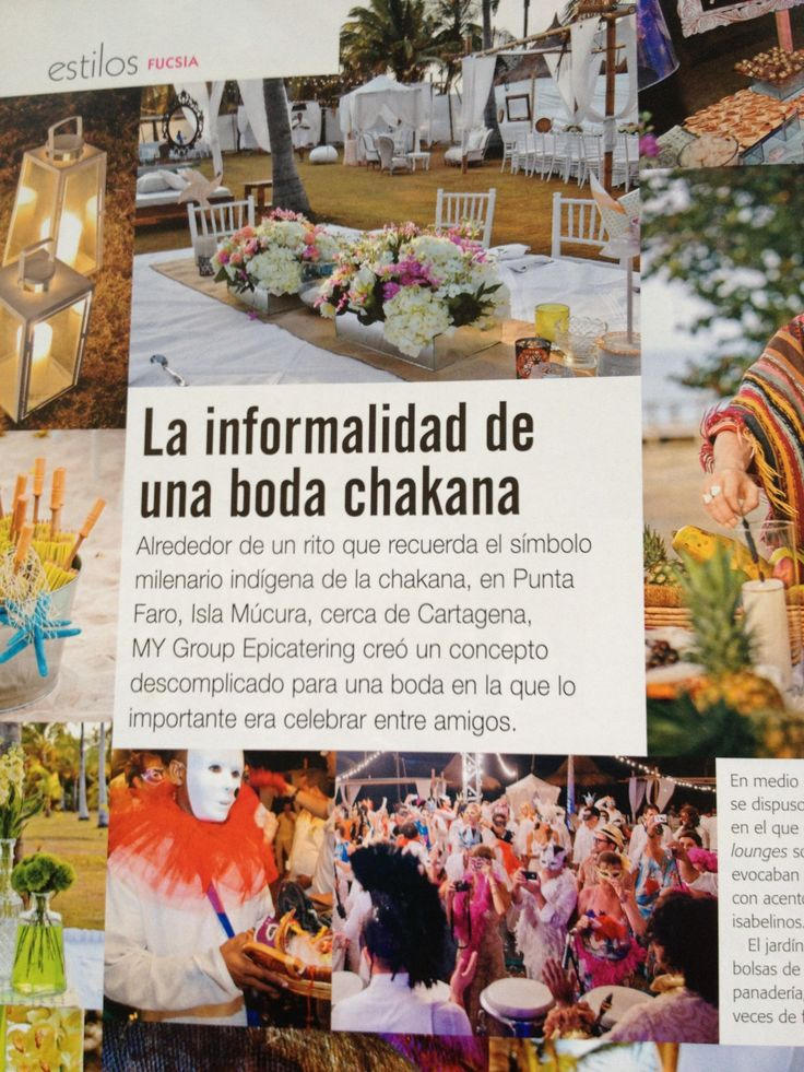 """Boda Chakana"" por MY Group Eventos en la Revista Fucsia Novias"