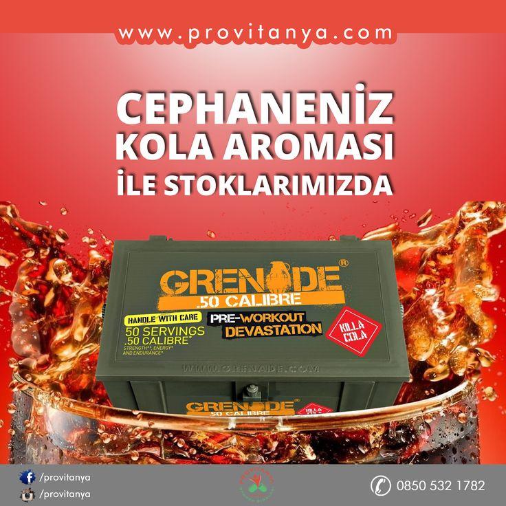 Grenade 50.Calibre Pre-Workout 580gr Kola Aroması ile Stoklarımızda!!  www.provitanya.com | Sağlıklı Yaşamın Adresi info@provitanya.com | 0850 532 1782 | 0533 733 8224 #provitanya #grenade #50calibre #preworkout #antrenman #vücudgelistirme #performans #kaskütlesi #güç #power #muscle #besindesteği