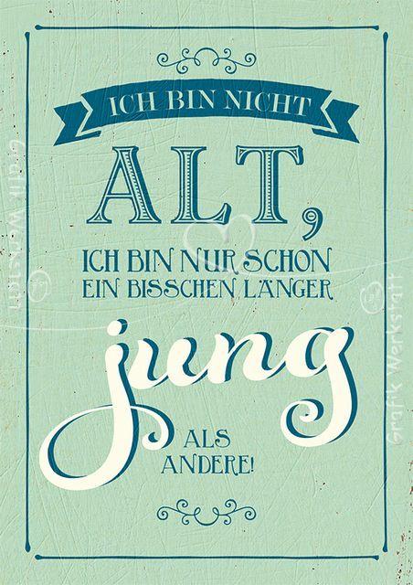 Ich bin nicht alt - Postkarten - Grafik Werkstatt Bielefeld